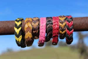 bloodknot leather bracelets